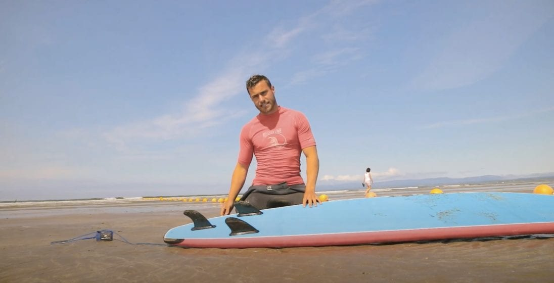 picture James with surf board