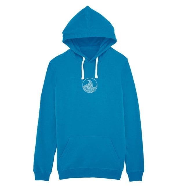 Unisex ight weight hoodie front - blue