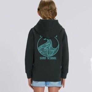 girl in hoodie black shaka