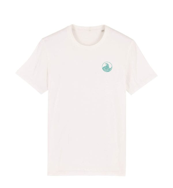 ALIEN PRINT OFF WHITE TEE FRONT
