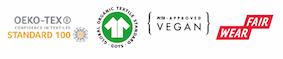 ustainability certificates peta, organic