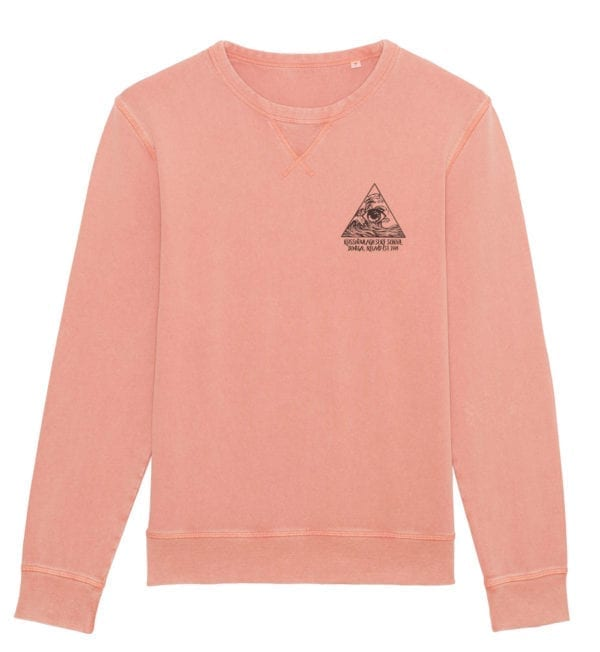 INTAGE ROSE SWEATSHIRT WITH 3 PILLAR PRINT - FRONT