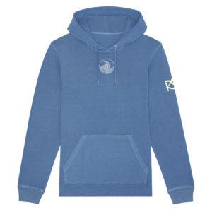 Vintage Cadet Blue Hoodie Front